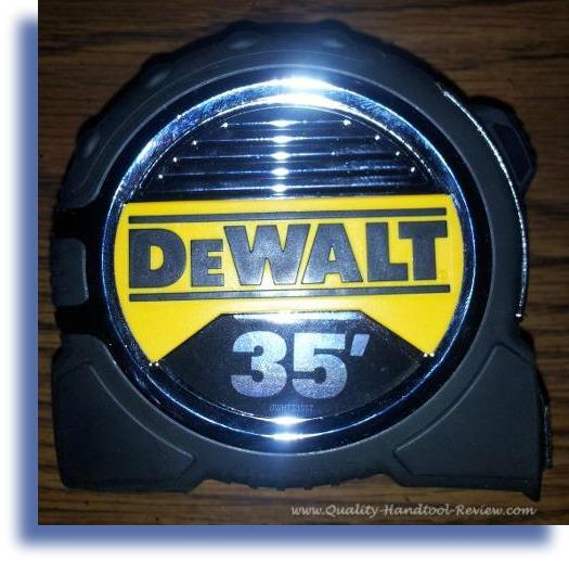 DeWalt Tape Measure Drop Shadow