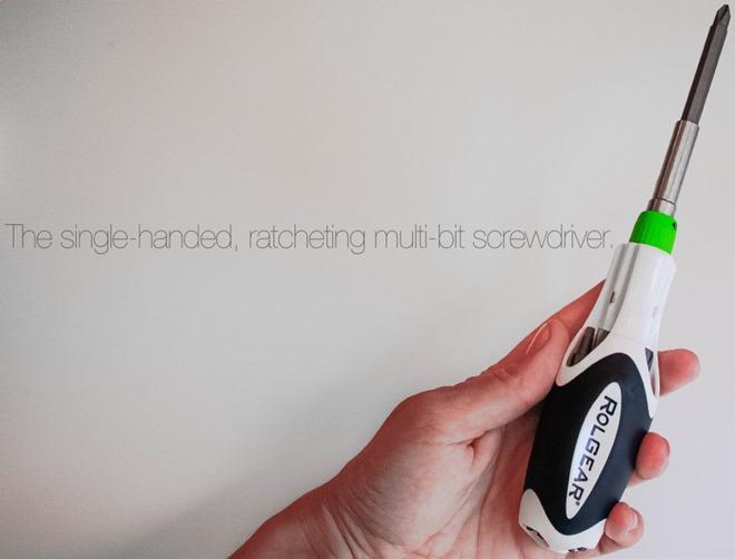 Rolgear 15 tip Multibit Ratcheting Screwdriver