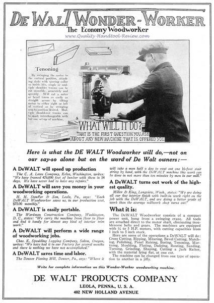 DeWalt Wonder Worker Advertisement