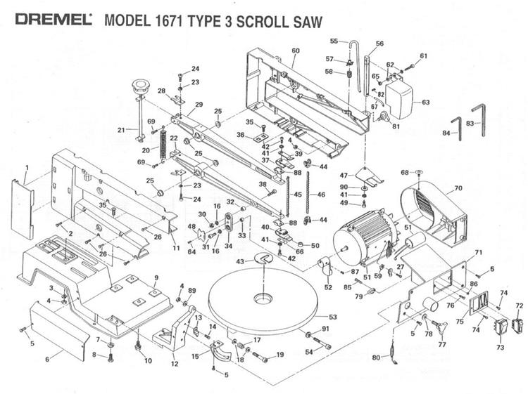 Dremel 1671 Exploded View