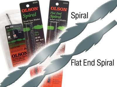 Olson Scroll Saw Spiral Blades
