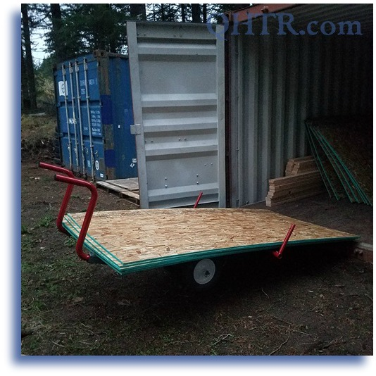 WHaTS Plywood Hauler Unloading